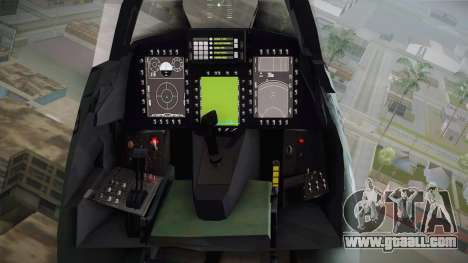 EMB J-39C Gripen NG FX-2 FAB for GTA San Andreas inner view