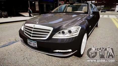 Mercedes-Benz S600 Guard Pullman 2011 for GTA 4