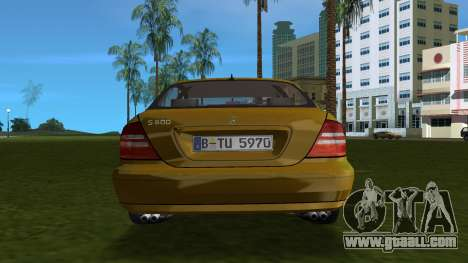 Mercedes-Benz S600 W220 for GTA Vice City right view