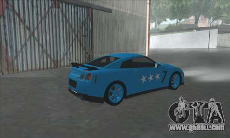 Nissan GTR Egoist 2011 (the Flag of the Kazakh k for GTA San Andreas right view