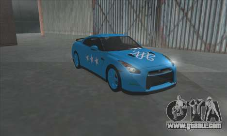 Nissan GTR Egoist 2011 (the Flag of the Kazakh k for GTA San Andreas back left view