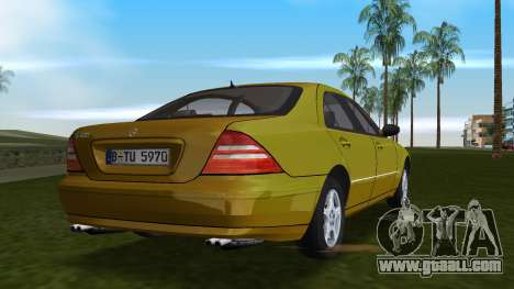 Mercedes-Benz S600 W220 for GTA Vice City back view