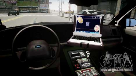 Ford Crown Victoria LAPD for GTA 4 inner view