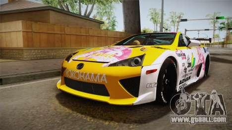 Lexus LFA Beatrice The Orange of ReZero for GTA San Andreas
