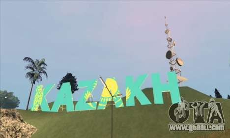 The inscription in KAZAKH instead of Vinewood for GTA San Andreas second screenshot