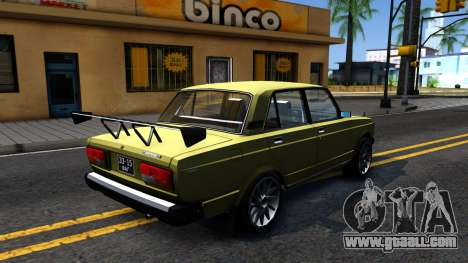 VAZ 2107 USSR for GTA San Andreas inner view