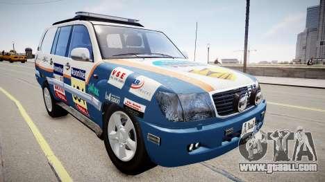 Toyota Land Cruiser GINAF Dakar Service Car for GTA 4
