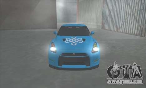Nissan GTR Egoist 2011 (the Flag of the Kazakh k for GTA San Andreas back view