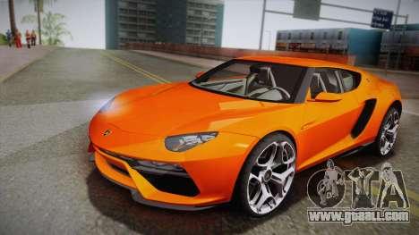 Lamborghini Asterion LPI 910-4 Concept 2016 for GTA San Andreas