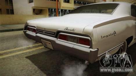 Chevrolet Impala Sport Sedan 396 Turbo-Jet 1967 for GTA San Andreas