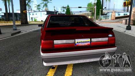 Ford Mustang 1993 for GTA San Andreas back left view