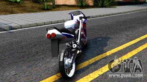 Yamaha TZM 150 for GTA San Andreas back left view
