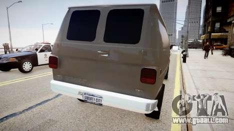 Chevrolet G20 Van for GTA 4 back left view