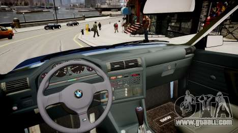 BMW E30 325i 1989 Cabrio for GTA 4 inner view