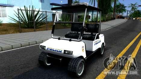 Caddy Metropolitan Police 1992 for GTA San Andreas