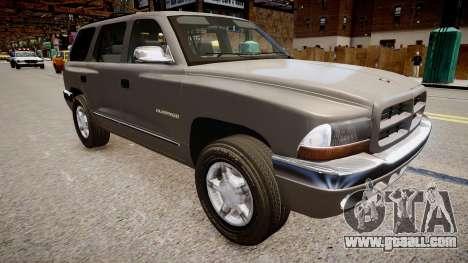 Dodge Durango 1998 for GTA 4