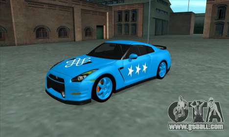 Nissan GTR Egoist 2011 (the Flag of the Kazakh k for GTA San Andreas interior