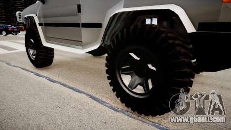 Patriot Jeep for GTA 4 back view