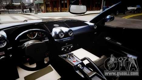 Ferrari 599 GTO for GTA 4 inner view
