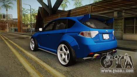 Subaru Impreza WRX STI Rocket Bunny for GTA San Andreas left view