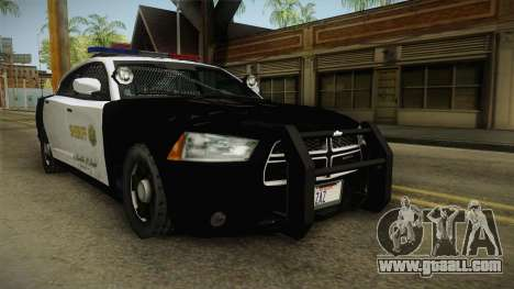 Dodge Charger Sheriff for GTA San Andreas right view