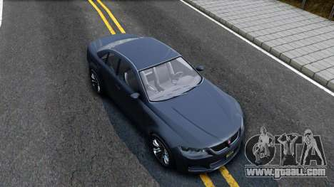 GTA V Ubermacth Sentinel Sedan for GTA San Andreas right view