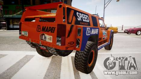 Hummer H3 Robby Gordon 2013 for GTA 4 back left view