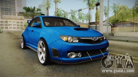 Subaru Impreza WRX STI Rocket Bunny for GTA San Andreas right view