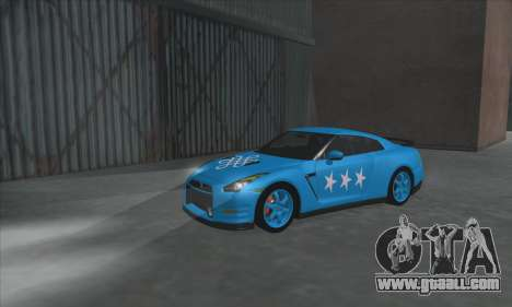 Nissan GTR Egoist 2011 (the Flag of the Kazakh k for GTA San Andreas left view