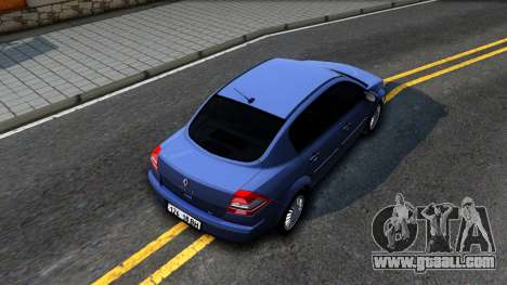 Renault Megane for GTA San Andreas back view
