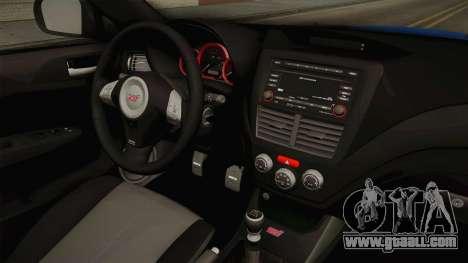 Subaru Impreza WRX STI Rocket Bunny for GTA San Andreas inner view