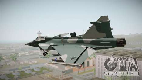 EMB J-39C Gripen NG FX-2 FAB for GTA San Andreas right view