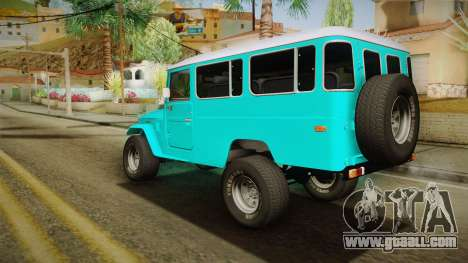 Toyota Land Cruise FJ40 Chasis Largo 1978 for GTA San Andreas left view