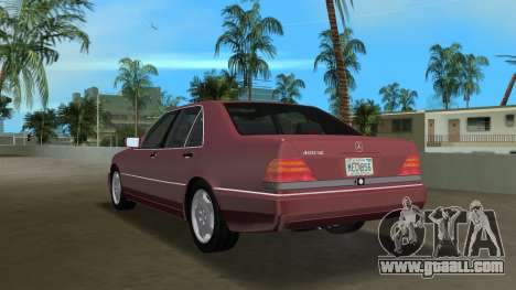 Mercedes-Benz 400SE W140 1991 for GTA Vice City back left view