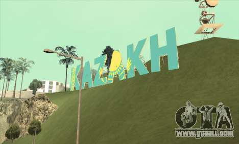 The inscription in KAZAKH instead of Vinewood for GTA San Andreas forth screenshot