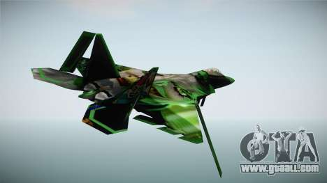 F-22 The Joker for GTA San Andreas left view