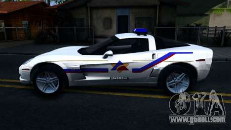 Chevy Corvette Z06 Hometown PD 2006 for GTA San Andreas left view