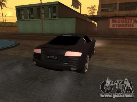 Audi R8 Armenian for GTA San Andreas back view