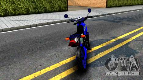 Yamaha DT 125 for GTA San Andreas back left view