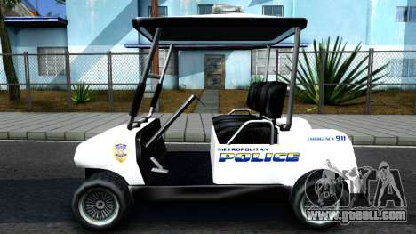 Caddy Metropolitan Police 1992 for GTA San Andreas left view