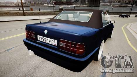BMW E30 325i 1989 Cabrio for GTA 4 back left view