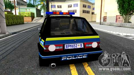 Volkswagen Golf Black South African Police for GTA San Andreas back left view
