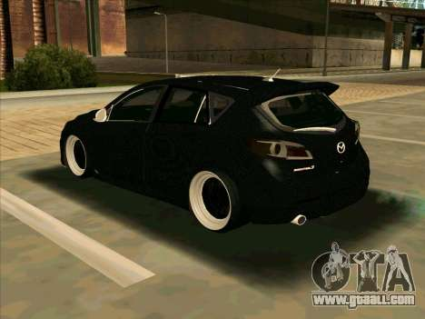 Mazda 3 for GTA San Andreas back left view