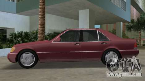 Mercedes-Benz 400SE W140 1991 for GTA Vice City left view