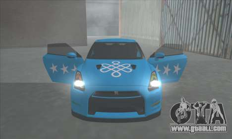 Nissan GTR Egoist 2011 (the Flag of the Kazakh k for GTA San Andreas inner view