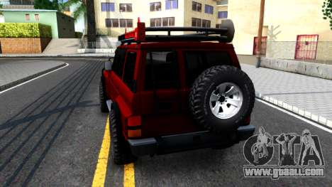 Nissan Patrol Y60 Off-road for GTA San Andreas back left view