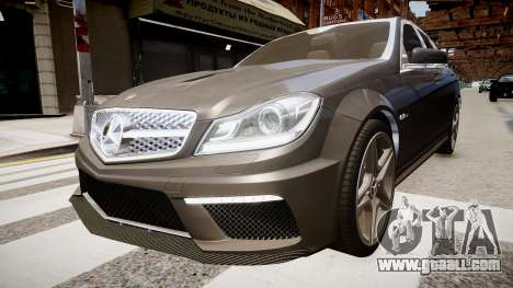 Mercedes-Benz C63 AMG for GTA 4 right view