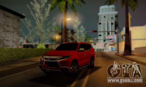 Mitsubishi Pajero Sport 2016 for GTA San Andreas back left view