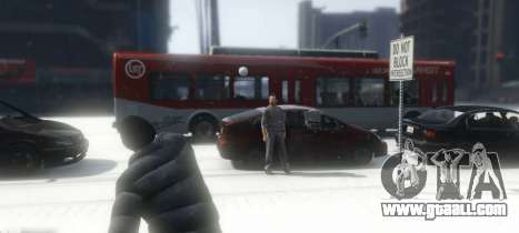 GTA 5 Snowballs in Singleplayer