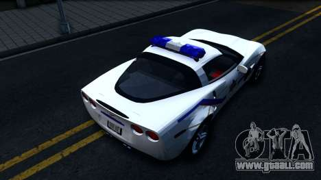 Chevy Corvette Z06 Hometown PD 2006 for GTA San Andreas back view